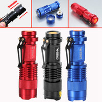 Wholesale UltraFire Mini Flashlight LM CREE Q5 LED Zoom In Out Torch Mode Free DHL