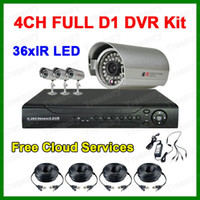 Wholesale Home Security System CH Full D1 DVR Kit IR LED Outdoor Weatheproof Color Video Surveillance System