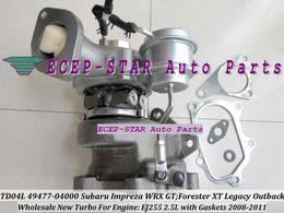 TD04L 49477-04000 49477 04000 14411AA710 Turbo Turbocharger For SUBARU Impreza WRX GT; Forester XT;Legacy Outback 2008-11 EJ255 2.5L Gaskets