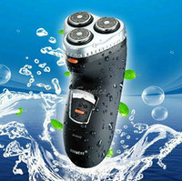 Male Electric Shavers - Washable Waterproof Heads Rotary Electric Shaver Hair Razor Rechargeable Black amp Drop Shipping