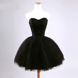 Lovely A-line Strapless Beading Short Prom Sweet Bridesmaid Dress