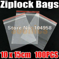 Wholesale 100pcs Jewelry Ziplock Zip Zipped Lock Reclosable Plastic Poly Clear Bags amp Drop Shipping