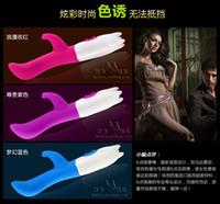 Female G-Spot Vibrators Silicone G-Spot Dual Vibrating Stick Silicon Waterproof Vibrator Stimulator Sex Toy For Women Female Masturbation Clitoris Massager
