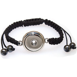 DIY braided rope with snap button charm bracelets,fits Noosa snap button charms.High quality plated,noosa bracelets