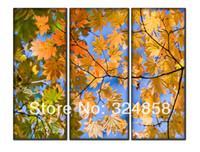 Yes Yes Unframed Maple Leaf Landscape Modern Art Oil Painting Pictures Printed On Canvas Home Decor For Living Room Wall Art as Interior decor