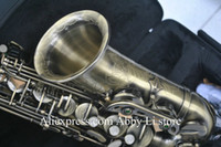 Wholesale Bronze Antique Alto Saxophone body Carved designs with case