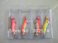 Wholesale Fishing jig Lures Wrapped Prawn lure octopus Shrimp Wood Baits Lures octopus Squid Jig Fishing Hooks CM G