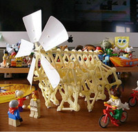 Wholesale Wind Powered Walking Walker Mini Strandbeest DIY Assembly Model Kits Robot Toy amp Drop Shipping
