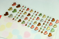 Wholesale NEW set cute heart style D sticker mobile sticker Decoration label Multifunction