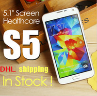 Wholesale HDC S5 G900F G900H G900 Android4 KitKat MTK6582 Quad core IPS pixel GB RAM GB ROM Air Gesture MP heart rate