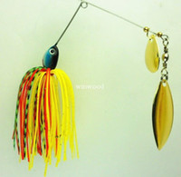 Wholesale spinner bait metal lure hard lure fishing Spinner Lure Spinnerbait Pike Bass