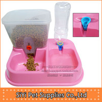 Dogs Feeding & Watering Supplies  Free shipping pet dog Combination automatic feeder water dispenser water dispenser feeding cat bowl dog bowl pet feeding water