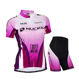 New Women Cycling Jersey Set NUCKILY Bike Wear Jersey + shorts Outdoor Bicycle S - XXL #893