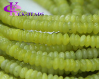 Wholesale Discount Genuine Natural Green Korea Olive Jade Rondelle Loose Stone Beads Fit Jewelry DIY Necklaces or Bracelets quot