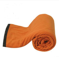 Wholesale Outdoor goods envelope polar fleece sleeping bag thickening thermal autumn and winter single double patchwork camping