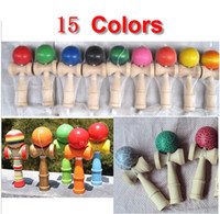 Wholesale 15 Colors CM Kendama Ball Japanese Traditional Wood Game Toy Education Gifts Hot Sale Fedex EMS Activity Gifts toys
