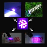 DC SMD 3528 Yes 1Pcs lot 12 LED Ultra Violet UV Light Torch Flashlight Camping #5262