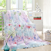 Wholesale Mint fiber printed blanket Cool in the spring amp summer of the quilt Air conditioning quilt cm KB B