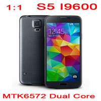 Wholesale 5PCS DHL Free S5 i9600 inch MTK6572 Dual Core Android G WCDMA Unlocked Smartphone Mobile Cell Phone Smart Phone Gesture MB GB