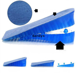 Wholesale 3Pairs New Layers Soft Lift Gel Silicone Shoe Insole Adjustable Fashion Hot Comfortable Height Increase Taller Pads NJ dandys