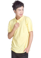 Men Cotton Polo 2014 Hot Men's Lapel yellow Polo Shirt Luxury Casual Slim Fit Short Sleeve T-shirt
