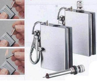 Wholesale Waterproof Outdoor Camping Standing match metal Striker Lighter with keychain survival Silver Matches e201