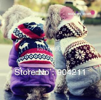 Sweaters & Sweatshirts Fall/Winter Unisex Wholesale - Free gifts+Free shipping! snowflake dog clothes winter sweat shirt,high quality pets clothing!