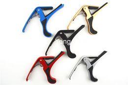 Wholesale New Colors Acoustic Guitar Capos Electric Guitar Strings Guitar Trigger Change Capo Key Clamp Wholesales