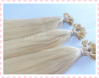 "Brazilian Hair Blonde Straight New Arrival Nano Hair Extensions Color #613 18""-28""100% Brazilian Human Virgin Hair Remy Hair Straight hair 100g pc Pre-bonded Extension 5A"