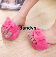 Massage & Relaxation massage slippers - New A Pair Slim Slipper Half Sole Massage Shoes Weight Loss Dieting Legs Slippers Rose Red and Blue Color NJ dandys