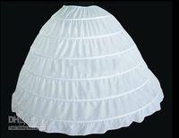 balls crochet - 2015 Ball Gown Petticoat Layes White Crinoline Underskirt Bridal Petticoats Wedding Dress Slip Hoop Skirt Crinoline For Quinceanera Dress