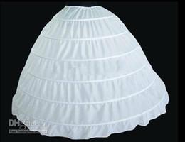 Wholesale 2015 Ball Gown Petticoat Layes White Crinoline Underskirt Bridal Petticoats Wedding Dress Slip Hoop Skirt Crinoline For Quinceanera Dress