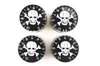 Gibson amber knobs - 1 Set of Amber Black Skull Knobs Electric Guitar Knobs For LP Style Electric Guitar Wholesales