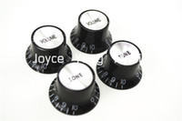 Wholesale 1 Set of Black Silver Reflector Electric Guitar Knobs For SG Style Electric Guitar Wholesales
