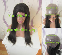 Wholesale 5a quality inch b silky straight virgin brazilian full pu cap thin skin wig