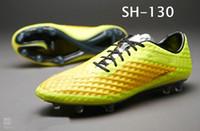Wholesale Men s Soccer Shoes Edition Venom Phantom FG Jnr Boots Yellow Black Volt Outdoors Cleats TPU Sole American Football Shoes Men s Sports Shoes