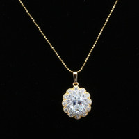 Wholesale Anna Jewelry New Products Listed K Gold Plated Fashion Necklace Made With Cubic Zirconia ATW019