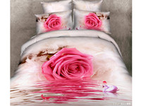Wholesale set D Red rose printed with Queen King size bedding set duvet cover bed sheet bedclothes