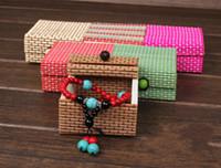Jewelry Boxes   maxi freeshipping 10colors Retro Large Capacity Creative bamboo Sundries box Jewelry Box Storage box