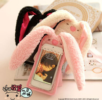 Cute Bunny long ear rabbit Plush case for Iphone 5 5S Iphone...