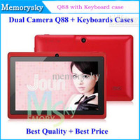 Wholesale 7 quot Allwinner A13 Q88 Dual Camera Tablet PC Keyboards Case Android Touch Wifi Free DHL M G