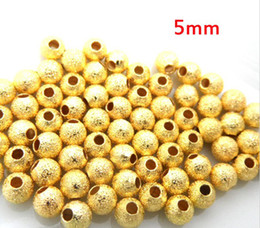 500 Pcs Gold Plated Stardust Scrub Spacer Beads 5mm Dia