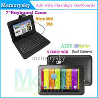 Wholesale 7 Inch Android A20 Dual Core Q88 PRO tablet PC GB Points Capacitive Dual Camera HDMI Keyboards Cases Colors