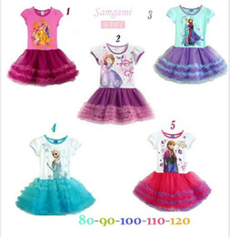 Wholesale 2014 New Girls Frozen Dress Children Frozen Princess Tutu Dress Children Cartoon Dress