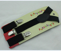 Wholesale Fashion Children s black suspender width cm elastic cilp kids suspenders