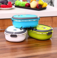 food box - New Food Contact Safe Stainless Steel Lunchboxes Students Lunch Box Food Container Colors Hot Sale BFCF dandys