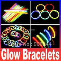 Wholesale fluorescent bracelets flashing lighting wand novelty toy glow sticks for christmas celebration festivities ceremony item product