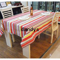 Wholesale New Quality Colorful Striped Rectangle X70cm Cotton Table Cloth For Wedding Event amp Party amp Hotel amp Resturant Decoration BFCF dandys