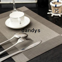 100% Cotton dining table - 6pcs Placemat Fashion PVC Dining Table Mat Disc Pads Bowl Pad Coasters Waterproof Table Cloth Pad Slip Resistant Pad BFCF dandys