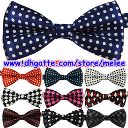 Wholesale Free Hot Sale New Mens Bowties men s ties men s bow ties men bow tie pure color bowtie Star Check Polka Dot Stripes